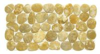 Polished Pebble Tile Border- Yellow