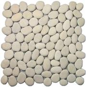 Unpolished Pebble Tile -(Ivory White)