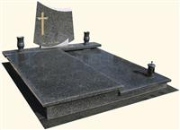 Polish Tombstones -Double Granite Tombstones - Black Granite Memorials(PLN34)