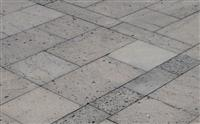 Lave Stone Paving, with Claw Lines