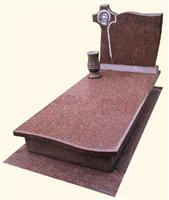 Polish Style Memorials - Red Granite Tombstones