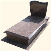 Polish Style Monuments - Red Granite Tombstones(PLN11)