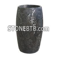 China Dark Coffee Pedestal Sink
