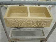 Cream marble farm sink