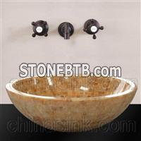 Honey Onyx Mosaic Sink