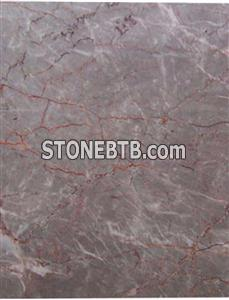 Grey Red Marble