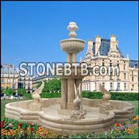 White Granite Fountains In Factory