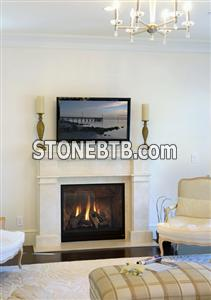 Natural Stone Marble Fireplace Surround Simple Design Fire Place