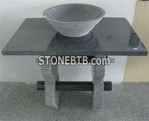 G654 Granite stone sink Padang Dark Sink