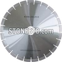 Silver brazed diamond saw blade for granite
