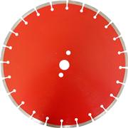 Laser welded saw blade for concrete, sandstones, etc.