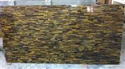 Semiprecious Yellow Stone Tiger Eye Mosaic Tile