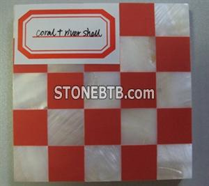 Coral and River Shell Mosaic Tile