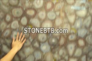 Semiprecious Stone Agate Mosaic Decorative Panel