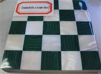 Malachite and River Shell Mosaic Tile