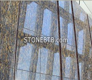 Semiprecious Stone Tiger Eye Mosaic Tile