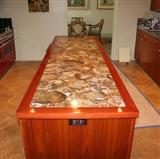 Semi precious stone petrified wood stone countertop