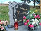 Tombstone with Blue Granite