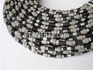 Rubber sintered diamond wire saw with 11.5mm diameter for granite quarries