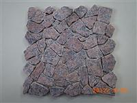 Maple Red Granite Tumbled Mosaic