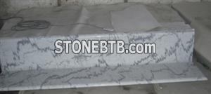Chinese white marble step