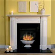 Fireplace - Edwardian Curved, Caliza Paloma Stone