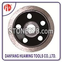 HM52 Diamond Rim Cup Grinding Wheel