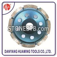 HM45 Single Row Diamond Cup Wheel For Grinding Marble Concrete Granite