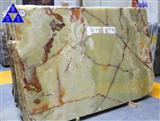 Green onyx polished big slab