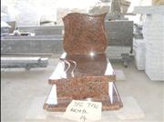 Tombstone with Red Granite