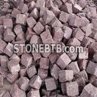 Red Granite Landscaping Stone, Red Cube Stone