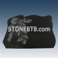 Granite tombstone, tombstone, black tombstone