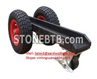 aardwolf 3 WHEEL SLAB DOLLY tools for moving stone, construction, equipment, machinery, granite, glass, work site