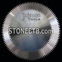 Silver brazed saw blades for stone