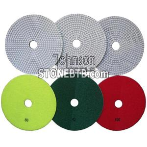 180mm Diamond White Wet Polishing Pad