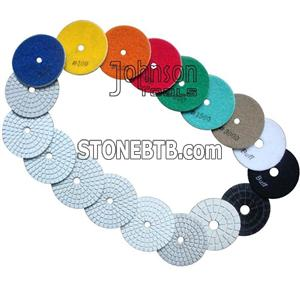 75mm white Diamond Wet Polishing Pad