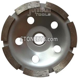 105mm single row cup wheel