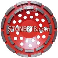180mm diamond double row cup wheel