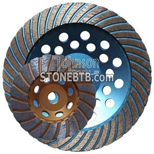 Diamond turbo cup wheel