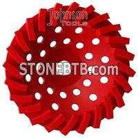 180mm diamond turbo cup wheel
