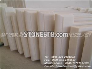 Pure White Marble Stair Tread