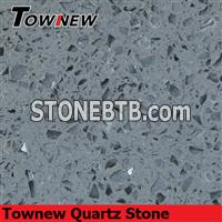 Gray quartz stone with mirror and glasses inside