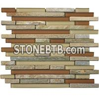 Natural stone mosaic tile