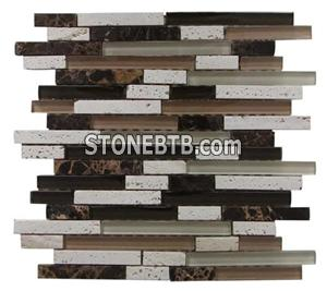 Glass mix stone tile SY 128