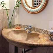 Bathroom sink in scabas rose