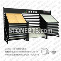 CX009 2 Raw Sliding Porcelain Tile Display Stand Rack