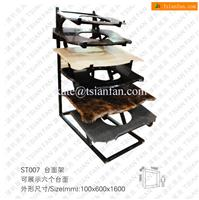 ST007 White Black Steel Display Racks