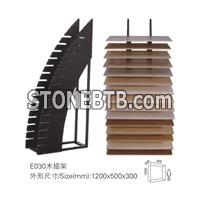 wood slotted racks for stone and mosaic racks