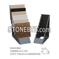 wood displays for stone samples