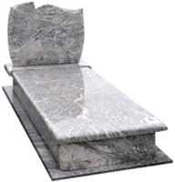 Wave Washed Sand granite gravestone